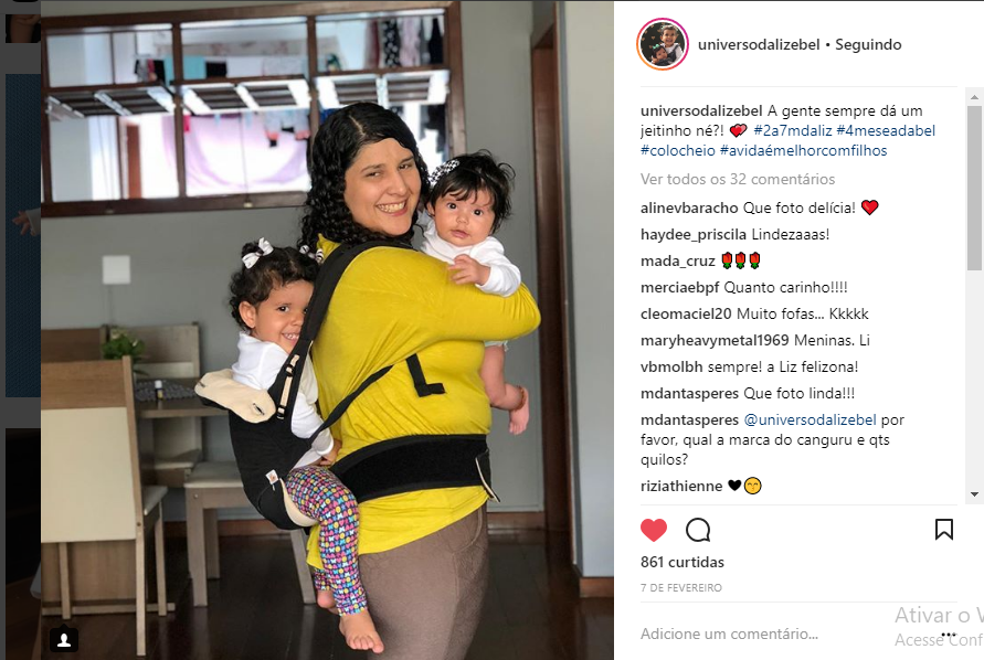 instagram sobre maternidade